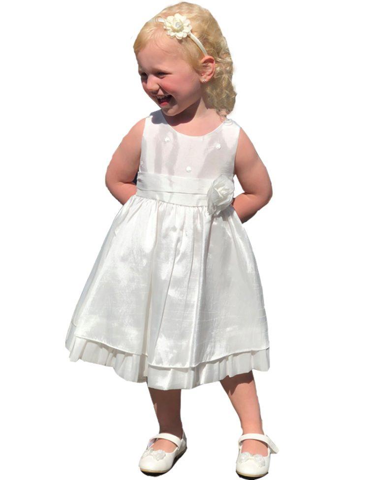 bruidsmeisjes jurkje in de kleur off white