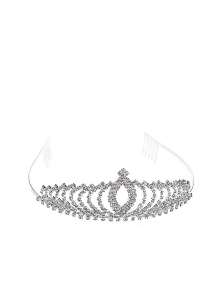 bruidsmeisjes kroontje in de kleur zilver naam noa