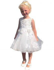 bruidsmeisjes jurk Monique met een bewerkt bovenlijfje