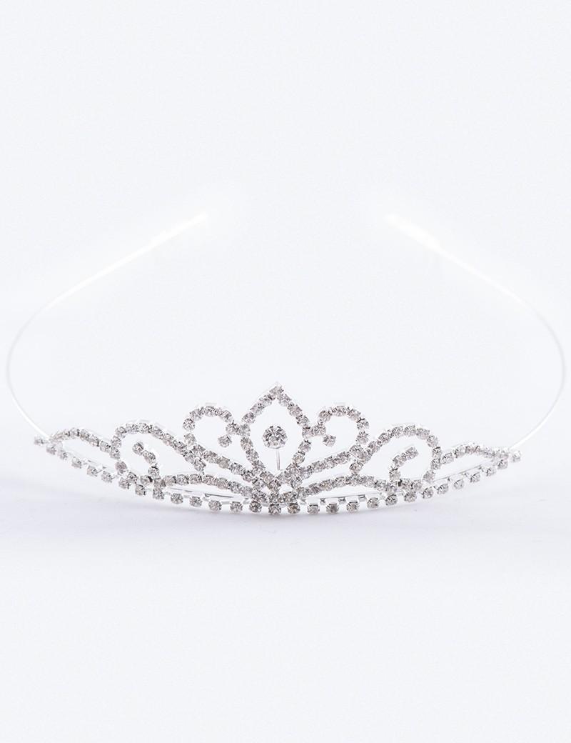 zilverkleurig bruidsmeisjes kroontje diva
