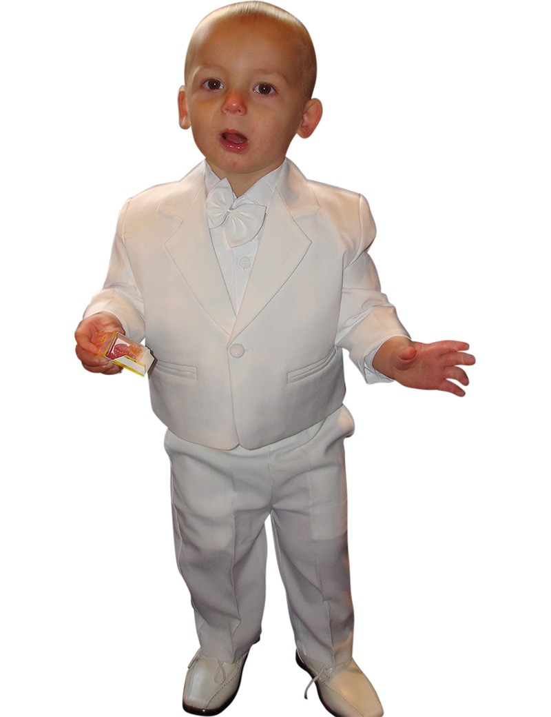 5-delig baby kostuum in de kleur wit