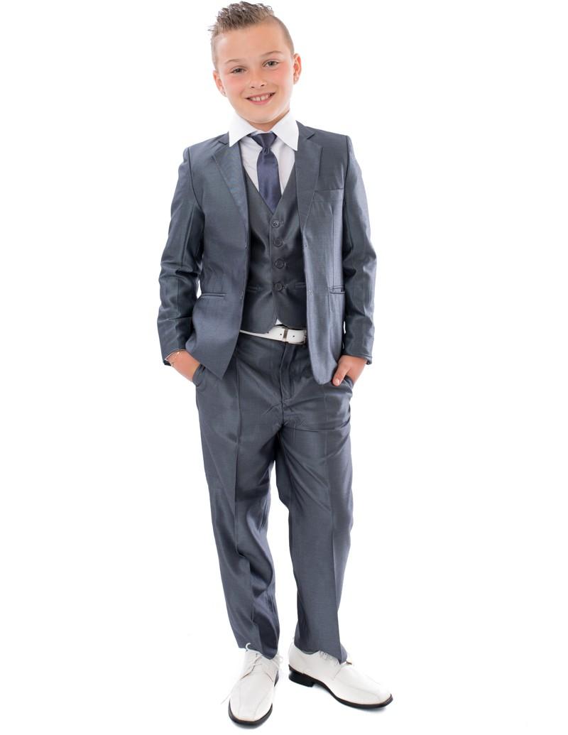 5-delig kinder kostuum tom met gilet broek jasje stropdas en wit overhemd