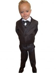 5-delig baby kostuum in de kleur donker grijs