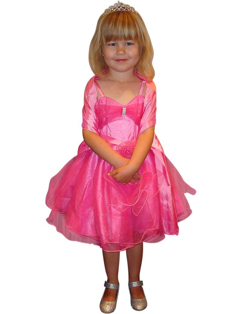 Feestjurk Norah in de kleur fuchsia roze met tule glitter rok