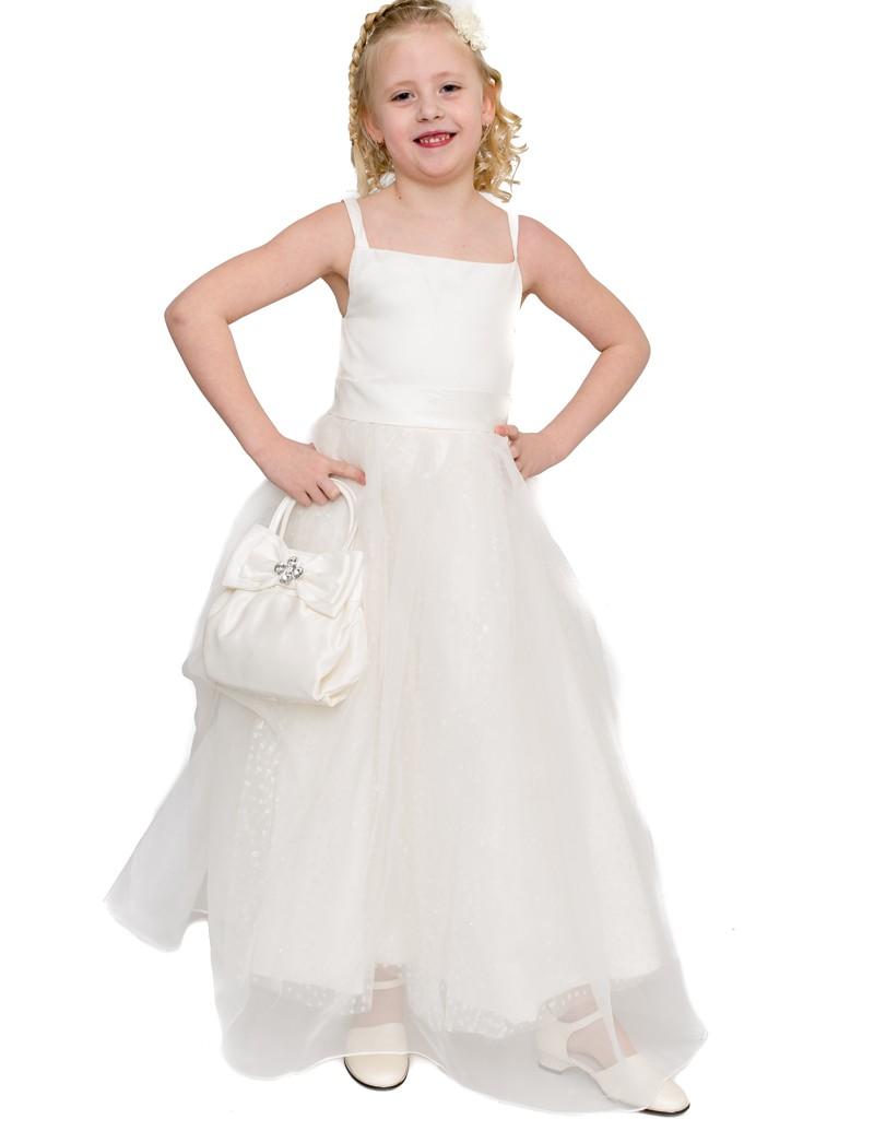 Bruidsmeisjes jurk met spaghetti bandjes en een glitter rok