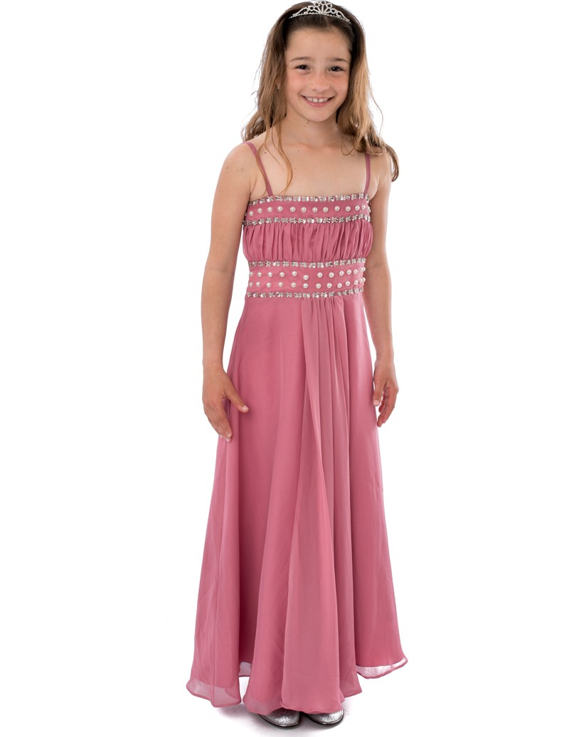 Lange Gala Jurk in de kleur oud Roze