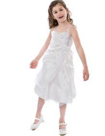 Bruidsmeisjesjurk Lola in de kleur off white met spaghettibandjes