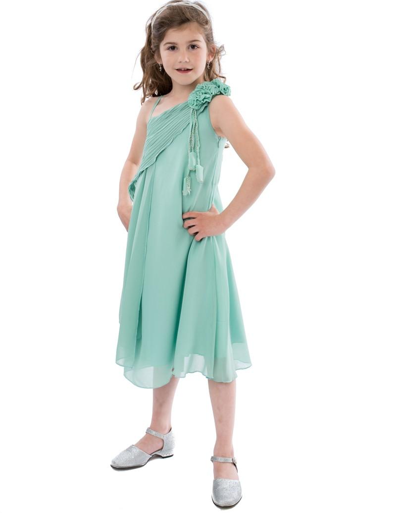gala jurk in de kleur mint groen