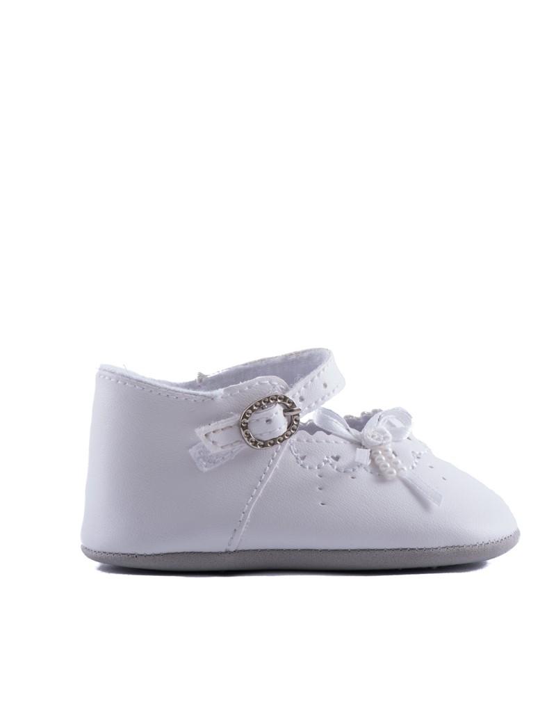 baby bruidsmeisjesschoentjes in de kleur off white