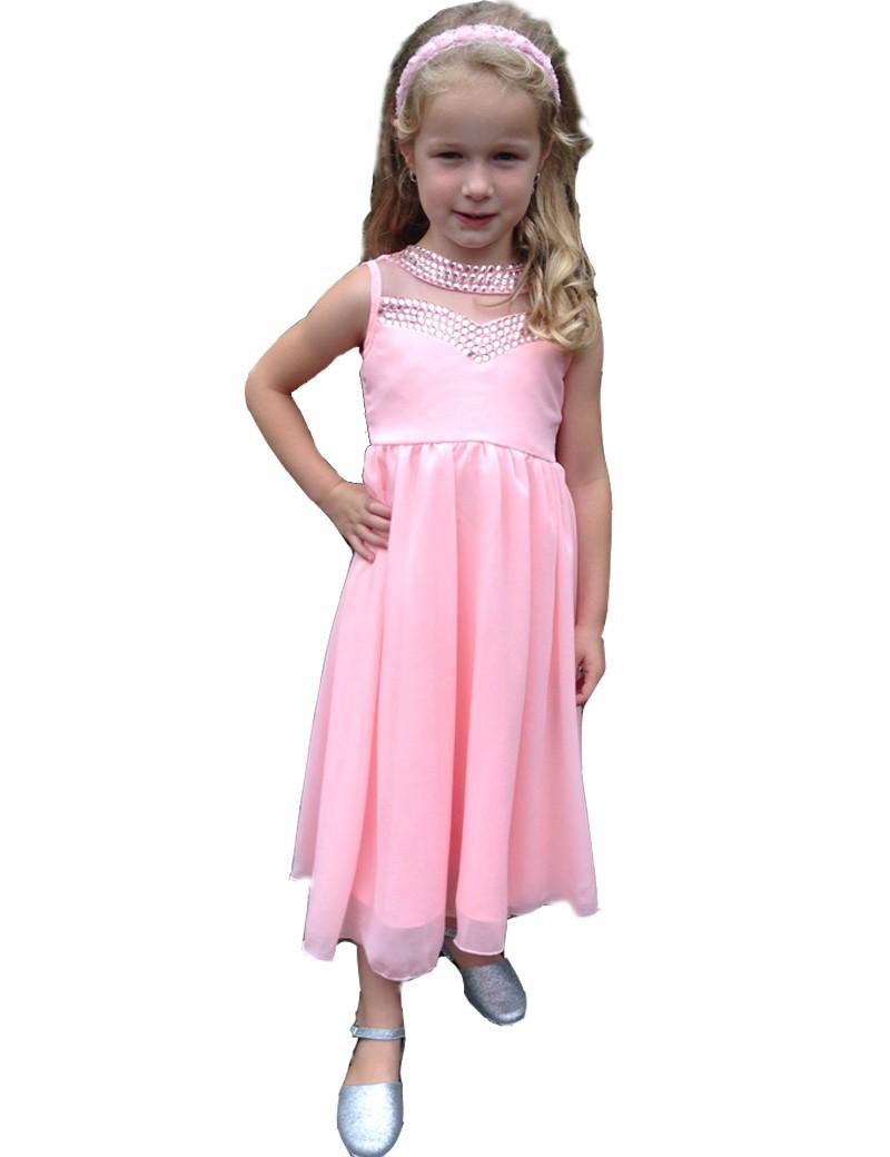 kinder gala jurk Bo in de kleur roze