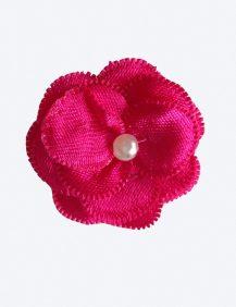 Bruidsmeisjes haarklemmetje fuchsia roze met een pareltje in het midden
