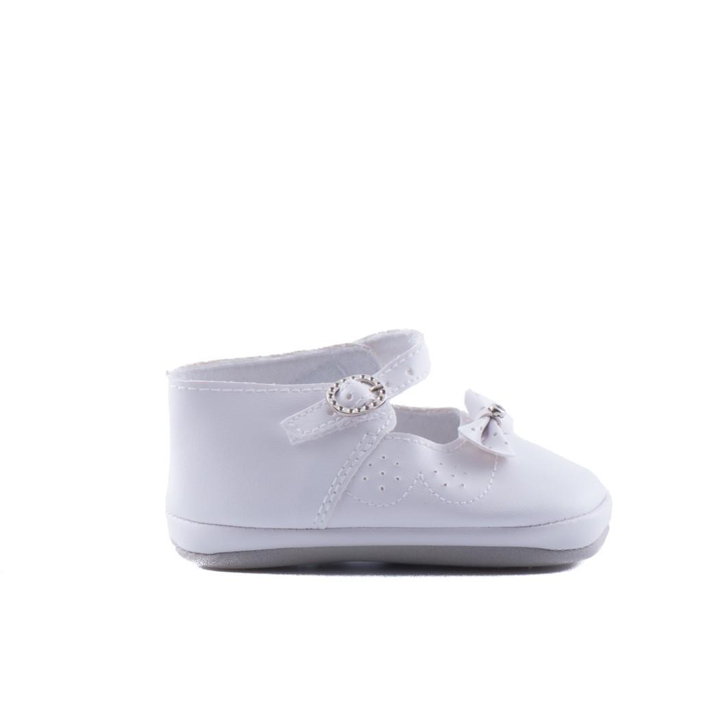 baby bruidsmeisjesschoen strik in de kleur off white
