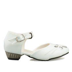 Bruidsmeisjes schoen Vlinder met een klein hakje en een bandje om de enkel