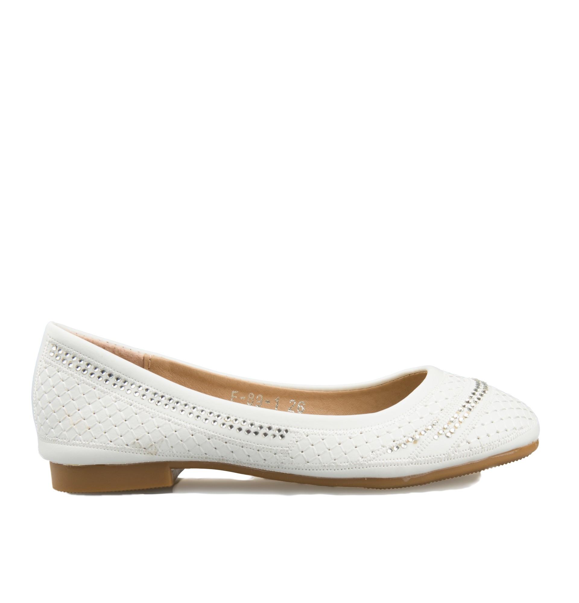 ballerina bruidsmeisjes schoen Femke in de kleur ivoor