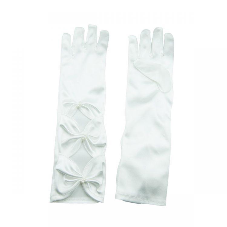 Lang model bruidsmeisjes handschoenen kleur ivoor