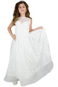 lange communie jurk met veel kant