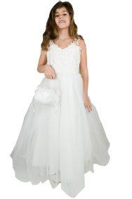lange bruidsmeisjesjurk Femke met tule rok
