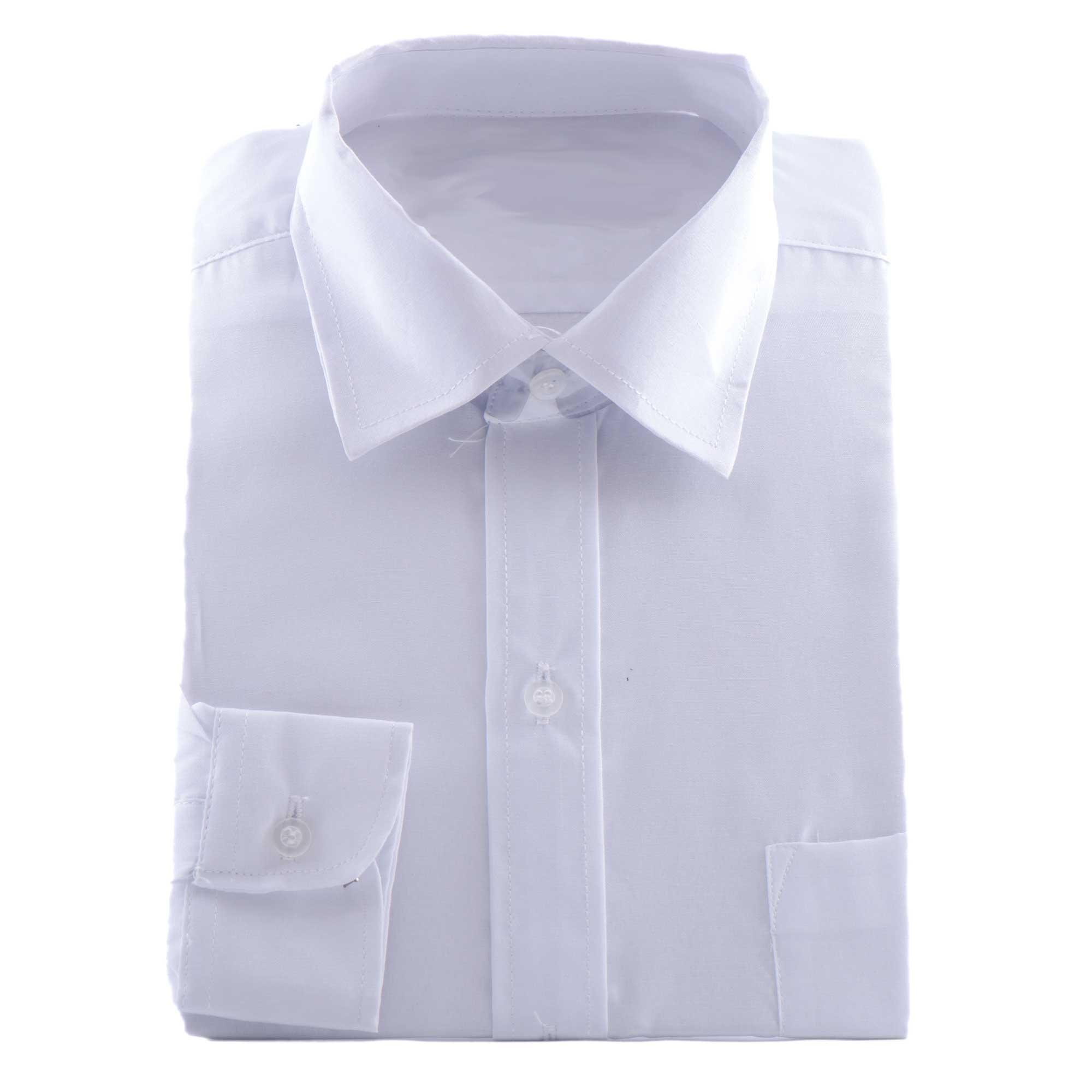 Bruidsjonkers overhemd in de kleur wit