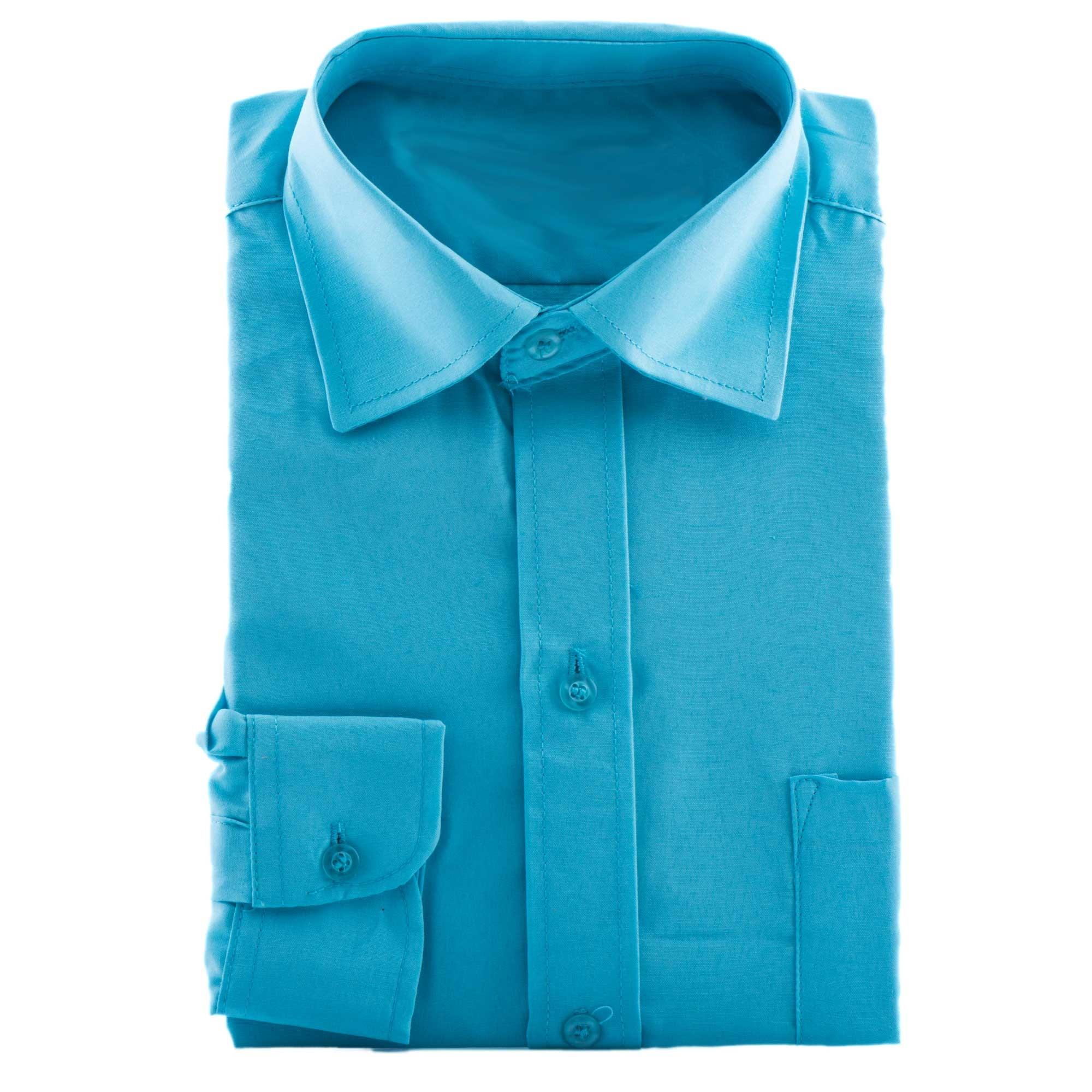 bruidsjonkers overhemd in de kleur blauw