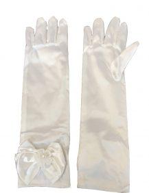 lange bruidsmeisjes handschoenen met bovenop een strik