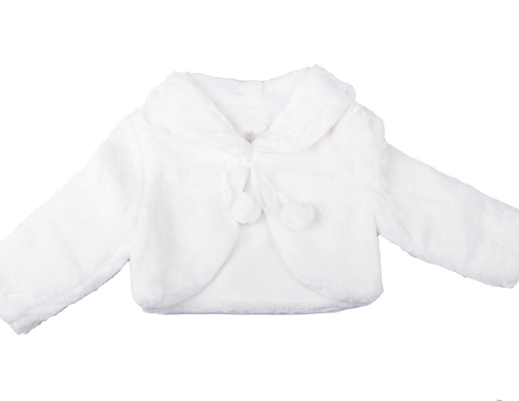 bontjasje voor bruidsmeisjes in de kleur wit