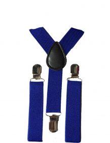 kinder bretels in de kleur konings blauw