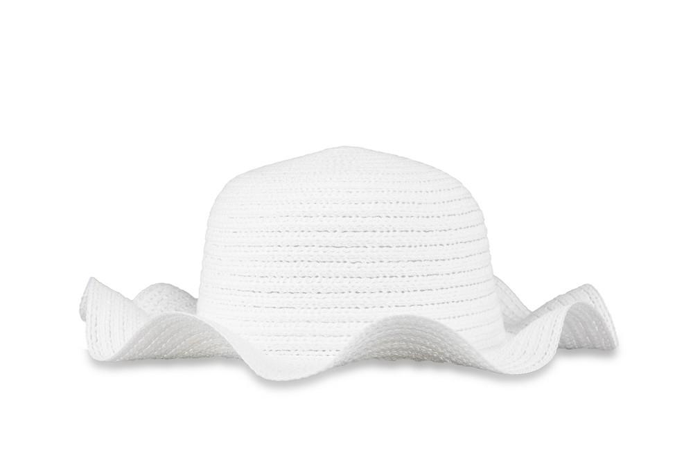 bruidsmeisjes hoedje off white met een golvende kap
