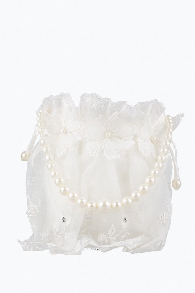 Bruidsmeisjes tas in de kleur ivoor