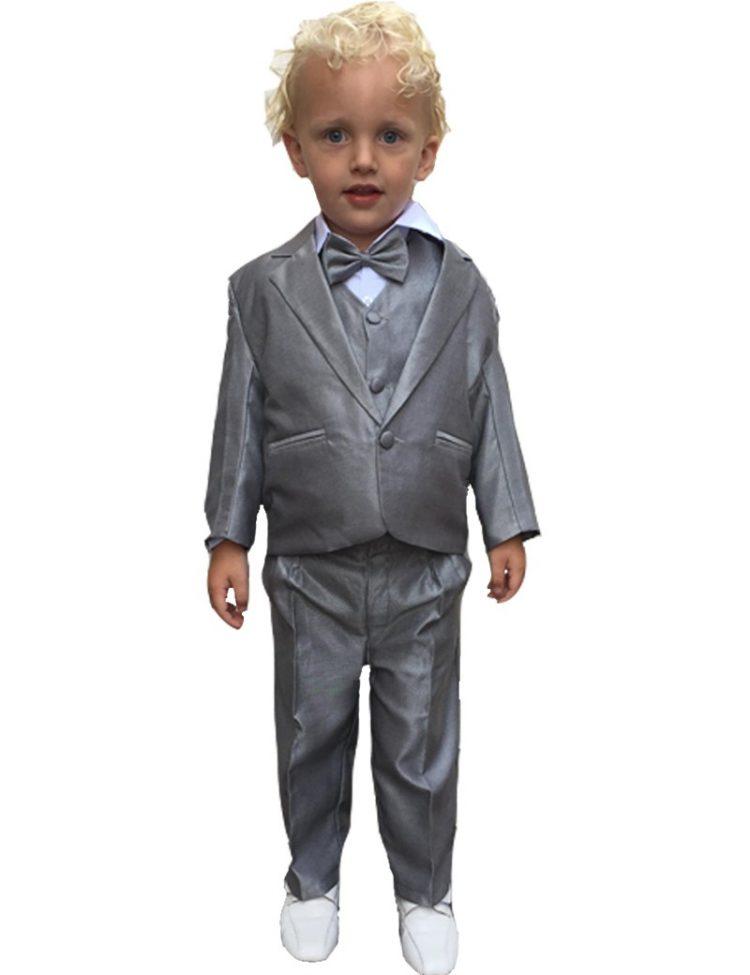 Licht grijs 5-delig baby kostuum Jeffrey