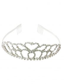 zilverkleurig bruidsmeisjes kroontje