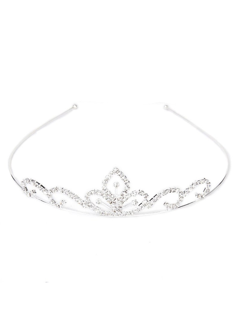 kleine tiara zilverkleurig voor bruidsmeisjes