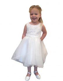 Bruidsmeisjes jurk met een tule rok en glitters