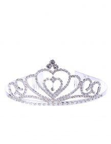 kinder kroontje hartvormig in de kleur zilver
