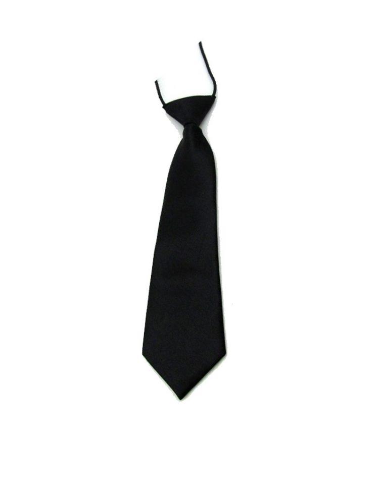 Bruidsjonkers stropdas in de kleur zwart