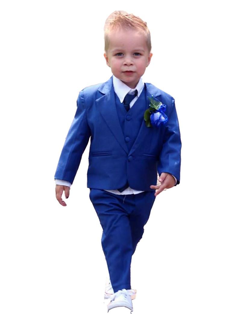 baby 5-delig bruidsjonker kostuum in de kleur konings blauw