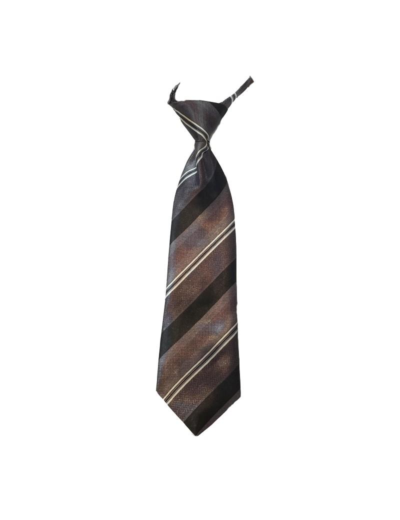 Bruidsjonkers stropdas in de kleur grijs met zwarte strepen