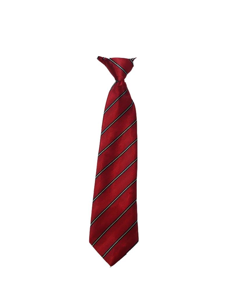 kinder stropdas rood met grijs streepje