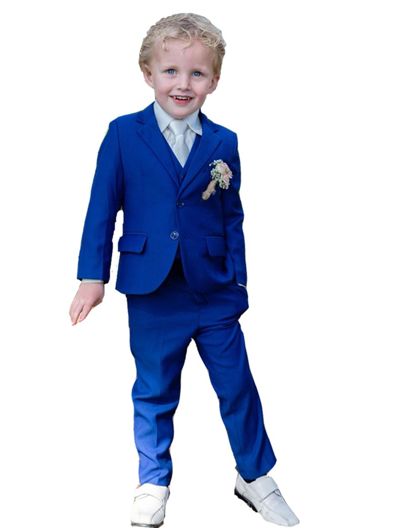 5-delig bruidsjonker kostuum in de kleur konings blauw