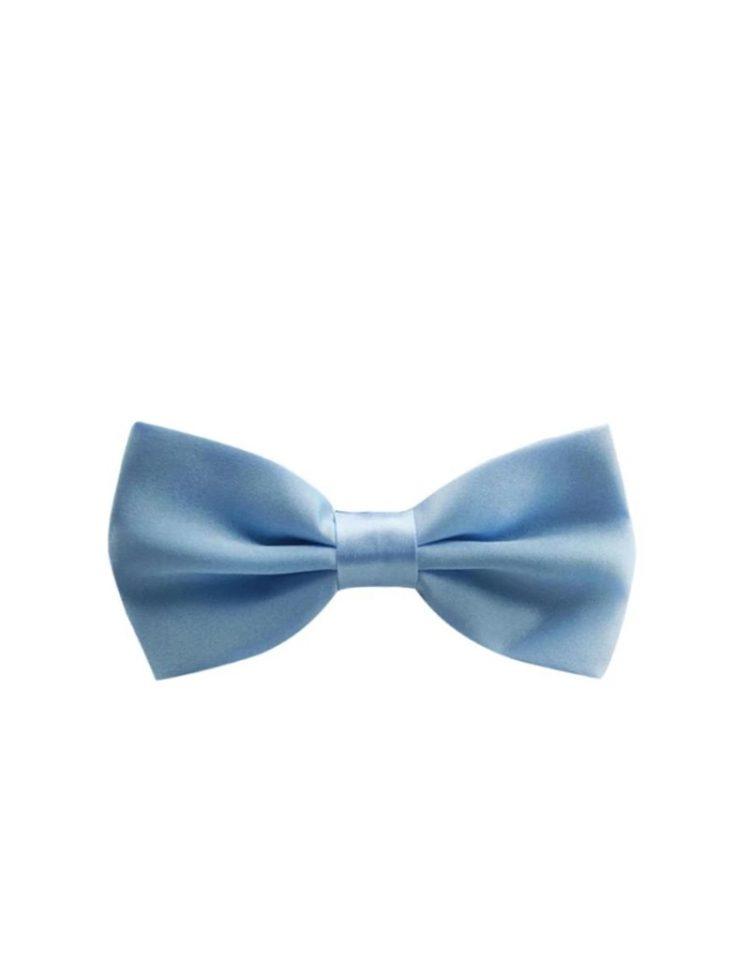 vlinderstrik baby blauw