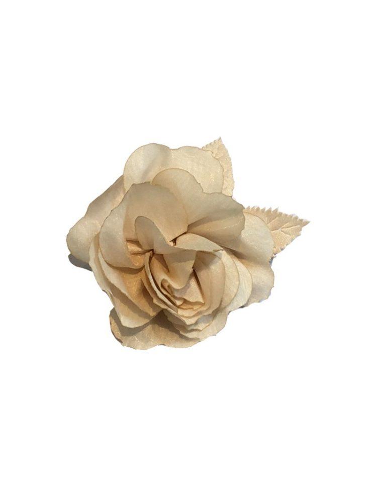 beige kleur haarbloem