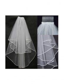 bruidsmeisjes sluier wit met een kammetje om in het haar te steken