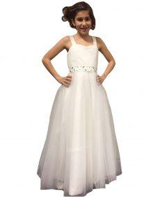 bruidsmeisjes jurk cindarella is een lange eenvoudige jurk. De rok is gemaakt van tule