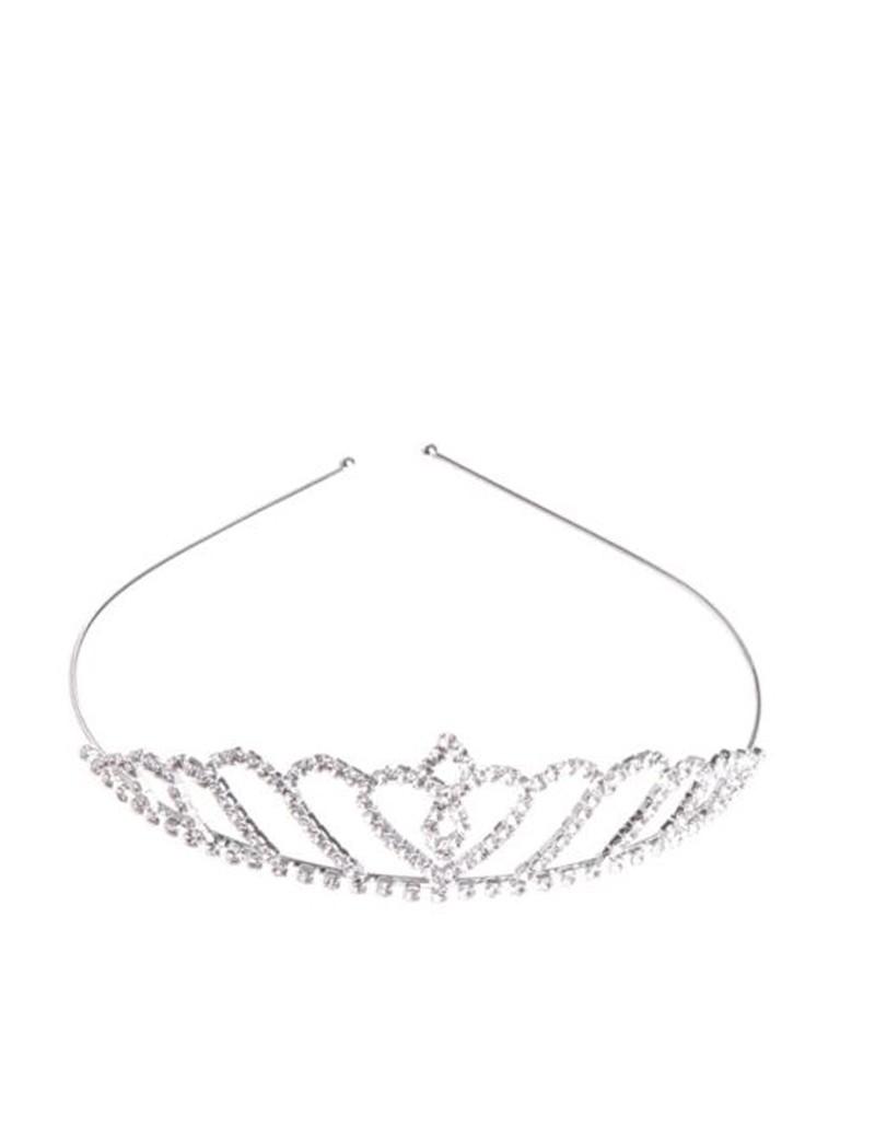 kinder kroontje prinses in de kleur zilver
