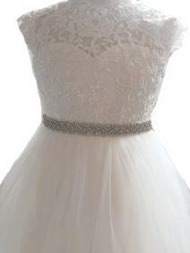 zilverkleurig strass riem voor een bruidsmeisjesjurk