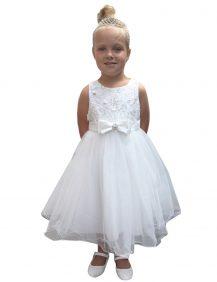 bruidsmeisjes jurk ivoor met tule rok en glitters