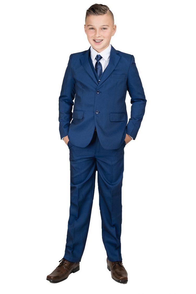 5-delig kinderkostuum stan inclusief jas, broek, gilet, strikje en wit overhemd