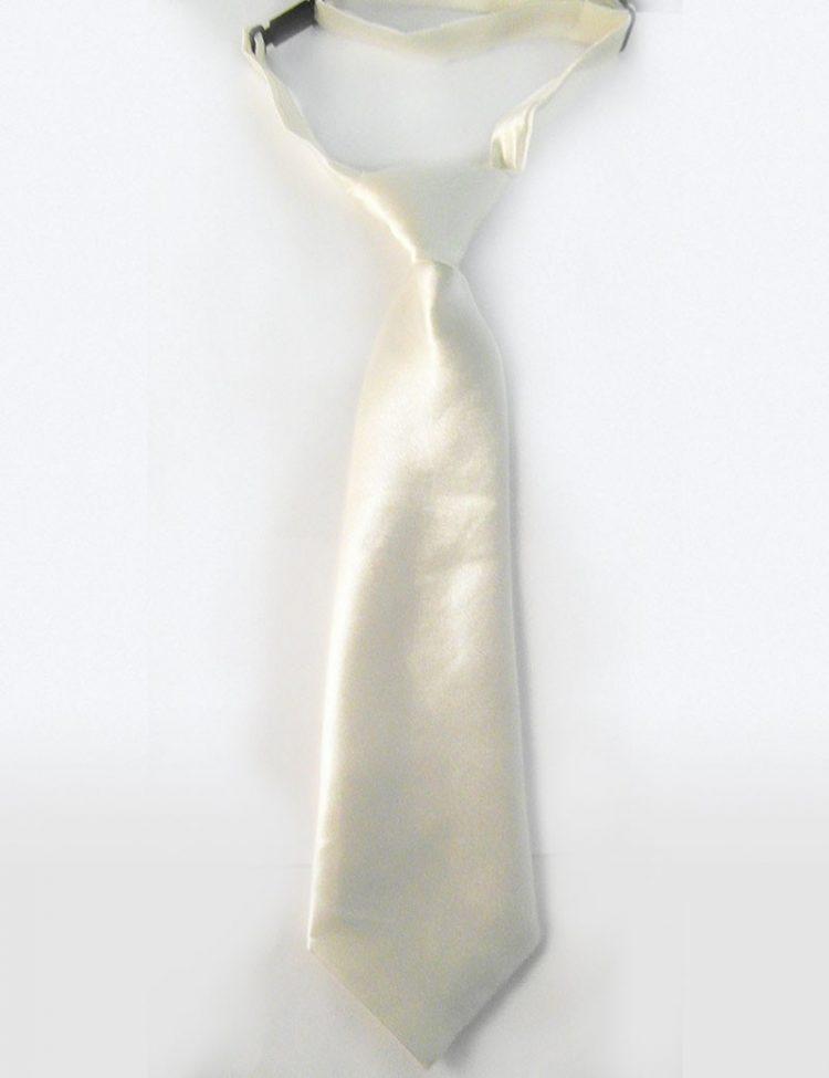 Bruidsjonkers stropdas in de kleur Ivoor