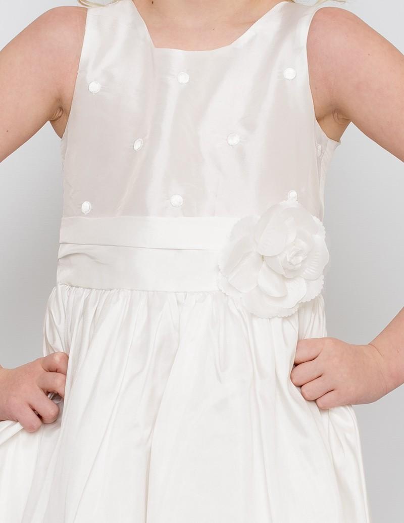 bovenlijfje bruidsmeisjesjurk Anna met geborduurde stipjes