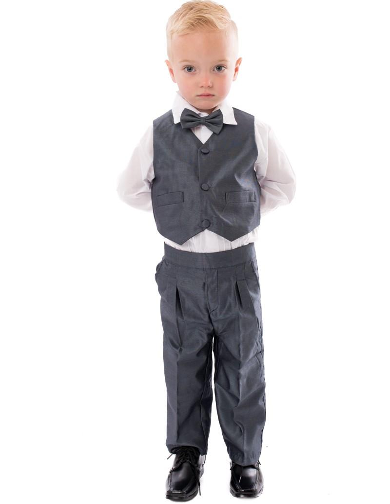 5-delig bruidsjonker baby kostuum Tom in de kleur grijs