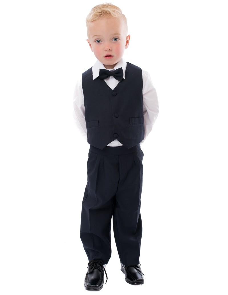 5-delig Baby Kostuum donker blauw